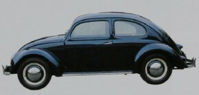 The VW Beetle, in all its minimalist glory.