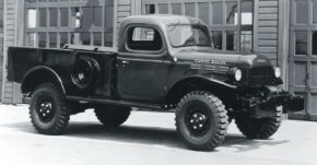 The 1946 Dodge Power Wagon debuted with the same 1939-vintage cab found on other Dodge trucks.