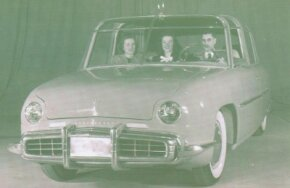The Plainsman concept car had a grille in front, even though the engine was in the rear. The car was designed so a front engine could be used just as easily if desired.