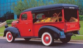 "The 1947 Dodge canopy delivery's ""canopy"" was a wooden frame covered with fabric. See more classic truck pictures."