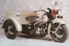 The 1947 Harley-Davidson Servi-Car was designed for use by mechanics. See more motorcycle pictures.