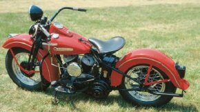The 1948 Harley-Davidson WL was powered by the reliable, understressed Forty-Five engine. See more motorcycle pictures.