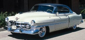 The Series 61 Cadillac was discontinued after 1951. Shown here is a 1950 Cadillac Series 61 hardtop.