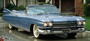 Cadillac's 1959 models, like this eye-catching 1959 Cadillac Eldorado Biarritz, sported a new, more curvaceous body.