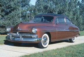 This 1950 Mercury features the black vinyl top. See more pictures of classic cars.