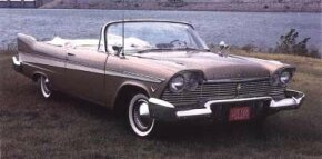 """Shark"" fins and a low beltline made for a dashing 1957 convertible."