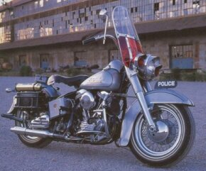 During the 1950s many law enforcement agencies contracted with Harley-Davidson for police motorcycles such as this 1951 Police Special.