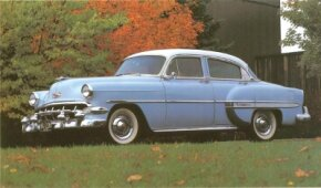 Chevrolet's 1954 Bel Air was most popular as a four-door sedan, with 248,750 built.