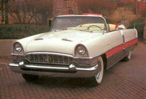 All Packards were redesigned for 1955, but the dual hood scoop was unique to the Caribbean.