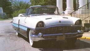 An altered grille was among the few styling changes on the 1956 Packard Caribbean.