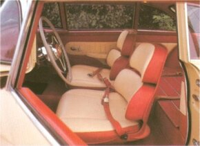 The seats of the 1954-1955 Hudson Italia were anatomically correct and fully adjustable.