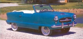 This 1954 Metropolitan, produced just before the Nash-Hudson merger, is badged a Nash-Kelvinator. See more classic car pictures.