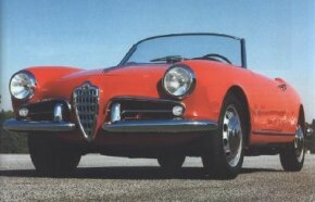 Having enjoyed an enthusiastic reception for its sleek Bertone-bodied Giulietta Sprint coupe, Alfa Romeo soon followed up with a two-seat Spider convertible, like this 1959 model. See more classic car pictures.
