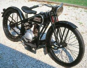 The 1956 Simplex Automatic's light weight contributed to its 100-mpg fuel efficiency. See more motorcycle pictures.