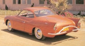 "A dipped bodyside ""character line"" and trendy tailfins set the Charles Townabout apart from the VW Karmann-Ghia that inspired its body design."