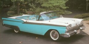 The 1959 Ford Galaxie arrived later than other 1959 Ford models, but it quickly became very popular. See more classic car pictures.