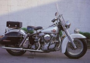The 1959 Harley-Davidson Police Special was dressed in the silver paint reserved for police bikes. See more motorcycle pictures.