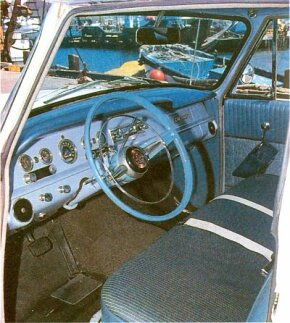 Checker did not focus on luxury. The interior of this 1965 Checker is quite spartan for the period.