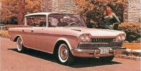 The top-line 1960 AMC/Rambler Ambassador rode a longer wheelbase than lesser Ramblers, but styling was similar. See more classic car pictures.
