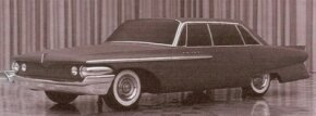 This rejected clay model from Don Kopka proposes a rather conservative direction for the 1962 DeSoto.