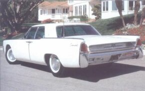 The 1961 Lincoln Continental rode a 123-inch wheelbase, eight inches shorter than its 1958-1960 predecessors.