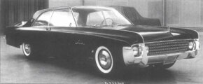 Two of Lincoln's junior stylists were allowed to develop this 1961 Lincoln Continental concept with prominent front-fender blades in late 1957.