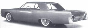 When shown to the planning committee, Elwood Engel's 1961 Ford Thunderbird proposal had typical Ford round taillights.