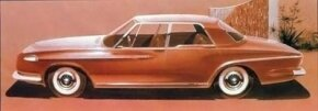 A rendering of the proposed 1962 Dodge conveys many of design details championed by Virgil Exner.