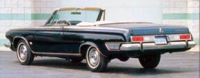 The 1963 Dodge Polara 500 was made in low numbers; only 1,580 convertibles were built.