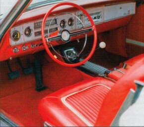 A more-conventional instrument panel and a new console were used inside the 1964 Dodge Polara 500.