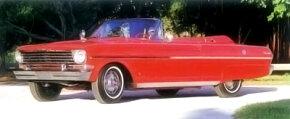 In 1963, the Chevy II could be ordered with a $161 SS (Super Sport) option. Included were silver inserts in the side trim and on the decklid, added chrome trim at the top of the bodysides and spinner hubcaps.