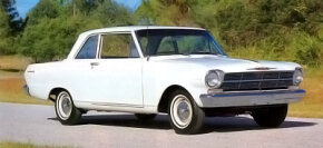 At $2,003, the least costly 1962 Chevy II was the series 100 two-door sedan.