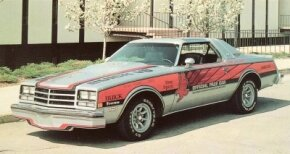 By 1976 the new Buick V-6 was chosen pace car.