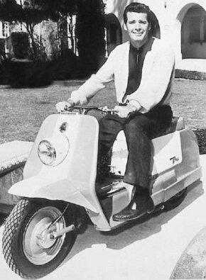 Actor James Garner toured Hollywood on a 1963 Harley-Davidson Topper.