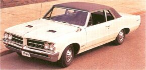 Considered one of the most influential cars of the '60s, the 1964 Pontiac GTO actually was an option package for the Tempest LeMans.