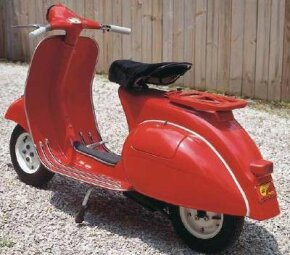 The 1964 Vespa Allstate differed little from the Italian original, though its engine displaced 125 cc not 90.