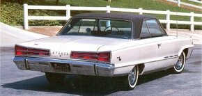 An optional black roof, as on this 1964, accented 15 color choices on the 1965 and 1966 Dodges.