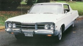 "The 1967 Dodge Monaco 500 put on 85 pounds, tipping the scale at 3,970 pounds at its most basic. The broad rocker panel trim design was adopted for Dodge's line leader. Free-standing numerals counted out ""500"" on the front fenders."