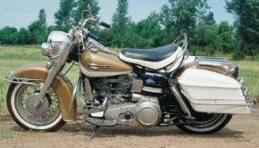 The Electra-Glide's mammoth headlight bezel appeared in 1960, and became a hallowed Harley design feature.