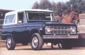The 1976 Bronco still had the same tiny 92-inch wheelbase as the 1966 original. See more classic truck pictures.
