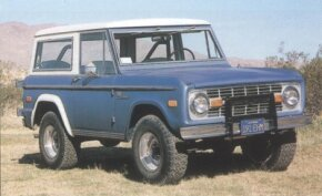 This 1972 wagon was built with the Sport package, a collection of bright trim pieces for civilian Broncos.