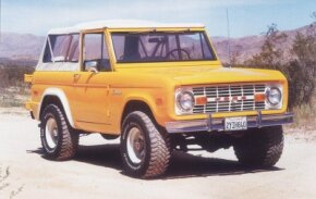 Some owners of latter-day Broncos replaced the wagon roof with a softtop,