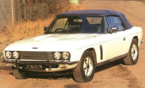 The 1987 Jensen Interceptor Mark IV could be had as a ragtop or hatch coupe.