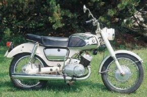 The 1966 Suzuki T10 was aimed at commuters who put a priority on convenience and flexible engine performance. See more motorcycle pictures.