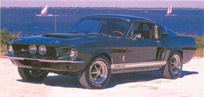 Mustang put on weight and inches for 1967, and the Shelby followed suit. The GT-350 (shown) featured a 306-bhp 289 V-8.