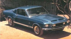 The 1968 GT-500's 428 V-8 engine was boosted to 360 bhp.