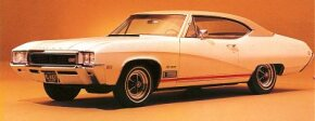 The 1968 Buick Skylark and GS gained a pronounced side crease, evidenced by this GS350. See more classic car pictures.