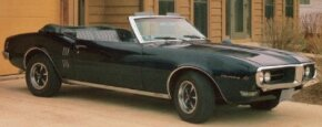 Some of the optional features available on the 1968 Pontiac Firebird Sprint convertible included a wood-trimmed steering wheel and red-striped tires. See more Pontiac Firebird pictures.