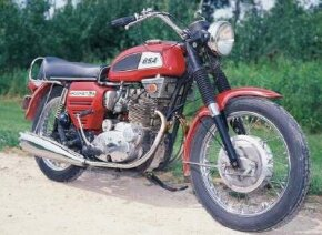 Though mechanically similar to the Triumph Trident introduced the same year, the 1969 BSA Rocket 3 looked decidedly different. See more motorcycle pictures.