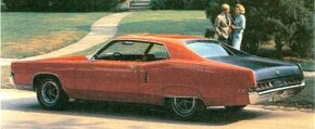 The 1969 Marauder X-100 was distinguished from the base model by fancier trim and a matte-black rear deck.
